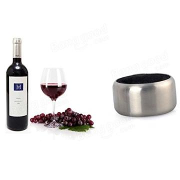 Paleo Edelstahl Wein Flaschen Stopper Kragen Tropfring Stopper Kragen -
