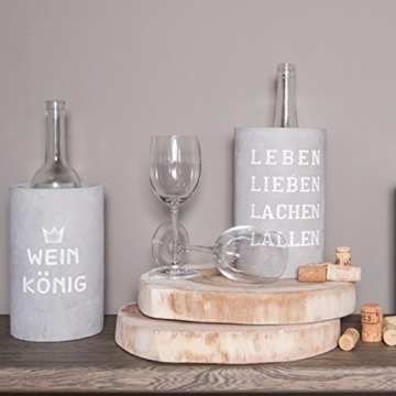 PET Vino Beton Weinkühler Any time is , d:14cm,Höhe:21cm -