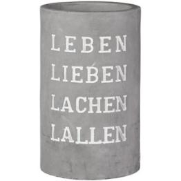 PET Vino Beton Weinkühler Leben lieben H:14cm,21cm hoch -