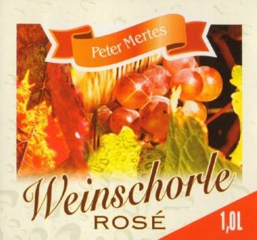 Peter Mertes Weinschorle rosé  (6 x 1 l) -