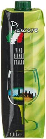 Piacere Vino da Tavola Bianco  (12 x 1 l) -