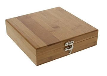 Pradel Excellence RT802D Sommelier-Box, 6-teilig aus Bambus 17,7 x 17,7 x 5 cm -