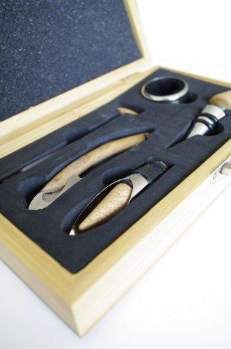 Pradel Excellence RT802H Korkenzieher in Sommelier-Box aus Bambus für 1 Flasche mit 4 Accessoires -