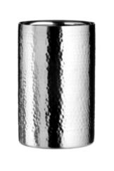 Premier Housewares Weinkühler/Sektkühler aus Edelstahl, mit Hammerschlagoptik -