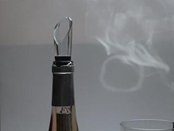 Premium Weinkühler Aromatisierer Ausgießer und Dekantierer aus Edelstahl und Glas BPA frei 1 Stück -