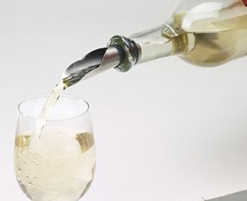 REFLECTS Weinset in Holzkassette mit Kellnermesser, Weinthermometer, Flaschenverschluss und Ausgießer ROUBAIX Schwarz -