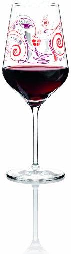 Ritzenhoff 3000005 Red rotweinglas M. Shalev F13, Glas, transparent mit bunten motiven -