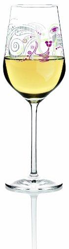Ritzenhoff 3010005 White Weißweinglas M. Shalev F13, Glas, transparent mit bunten motiven -
