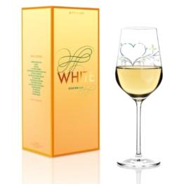 """Ritzenhoff 3010008 Designweinglas Weißwein Kurz Design """"'Herz"""" F14 -"""