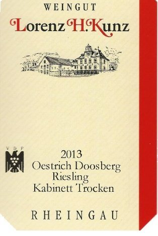 Roséwein Weingut Lorenz Kunz VDP.GUTSWEIN 2013 halbtrocken (1x0,75l) -