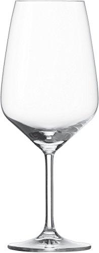Schott Zwiesel 115672 Bordeaux Taste 130 Rotweinglas, Bleifreies Kristallglas, transparent, 9.5 x 9.5 x 23.7 cm, 6 Einheiten -