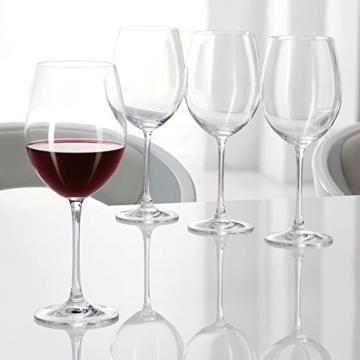 Spiegelau & Nachtmann, 4-teiliges Rotwein-Pokal-Set, Kristallglas, 727 ml, Vivendi, 0092035-0 -