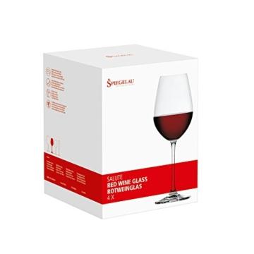 Spiegelau & Nachtmann, 4-teiliges Rotweinglas Set, Kristallglas, 550 ml, Salute, 4720171 -