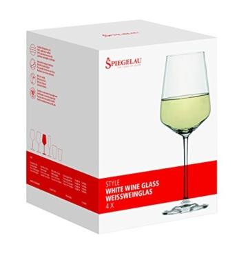 Spiegelau & Nachtmann, 4-teiliges Weißweinglas-Set, Kristallglas, 440 ml, Style, 4670182 -