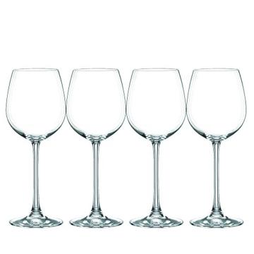 Spiegelau & Nachtmann, 4-teiliges Weißweinglas-Set, Kristallglas, 474 ml, Vivendi, 0085692-0 -