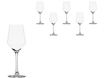 Stölzle Lausitz Weißweingläser Revolution, 365ml, 6er Set, hoch funktionelle Weißweinkelche, universell einsetzbare Weißweingläser -
