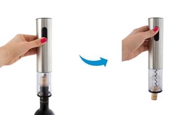 Suntec Wellness 29981 Korkenzieher Multifunktions-Set WIN-9981 Vaku inklusive Vakuumverschluss, Weinausgießer und Ladestation -
