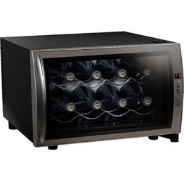 Syntrox Germany 8 Flaschen Digitaler Getränkekühlschrank WK-25L-8-2 Weinkühlschrank mit Touch Screen -