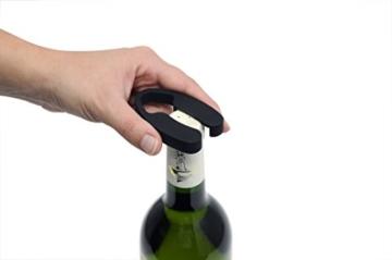 Trebs 21141 Elektrischer Weinflaschenöffner im Edelstahl-Design, Folienschneider,Korkenzieher, aufladbar -