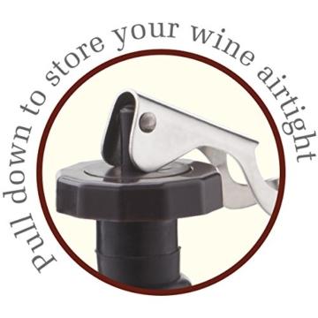 Vacu Vin 08885606 Flaschenverschluss Gelenkarm 2-er Set -