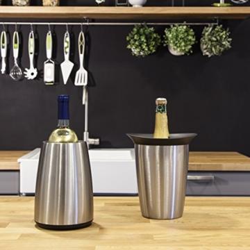 Vacu Vin - 3649360 - Aktiv Weinkühler Elegant Edelstahl -