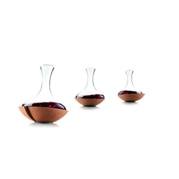 Vacu Vin 76000602 Schwing Dekanter Kork, transparent, 23 x 23 x 29 cm -