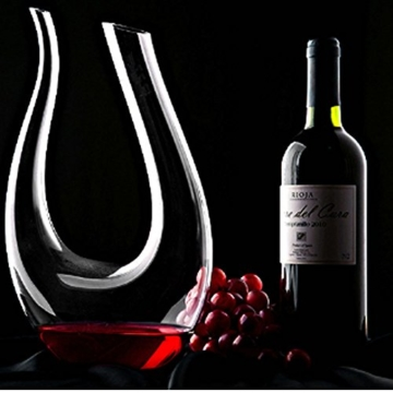 VictoryCN U-Form-1300ML Klassische Overflow-beständig Red Wine Decanter -