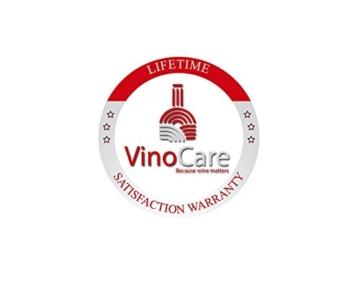 VinoCare® Pro Edition - Premium Vacu Weinpumpe mit 4 Stopfen in Geschenkverpackung -