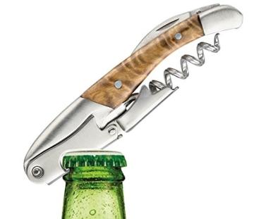VinPlus SOMMELIER LUXUS-SET Kellner-Messer + Flaschen-Öffner-Set Korkenzieher + Wein-Ausgießer Lüfter + Vakkum-Verschluss - Bar-Zubehör in luxuriös verpackter Geschenk-Box - ideal für Weihnachten -