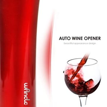 Wancle Auto Korkenzieher mit Folienschneider elektrische Korkenzieher Wein Flaschenöffner (Rot) -