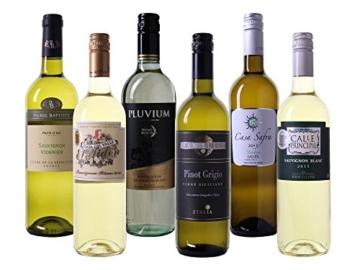 Wein Probierpaket europäische Weißweine trocken (6 x 0.75 l) -