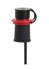 Weinausgießer mit Edelstahlsieb rot -
