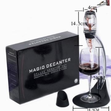 Weinbelüfter Set Ausgießer Wein Dekantierer Belüfter Weindekanter Wein Dekantierungsausgießer mit Stand Filter schwarz -
