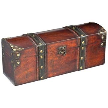 Weinbox Schatztruhe aus Holz - für eine Flasche - mit Weinbesteck -
