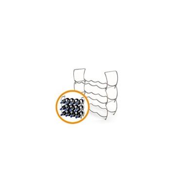 Weinflaschenregal 3er, Metall -