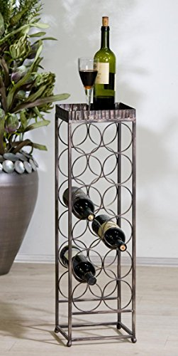 Weinflaschenregal 'Albana', 78 cm, antik-gold gewischt -