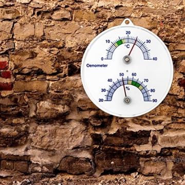 Weinkeller Wein Thermometer und Hygrometer . Bimetall Analog Önometer Weinthermometer -