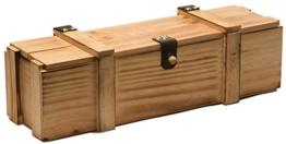 Weinkiste 1er geflammt inkl. Holzwolle / Holzkiste / Geschenkbox / Aufbewahrungsbox / Überraschungskiste / Weinbox / Hochzeitskiste (1er Weinbox) -