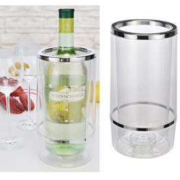 Weinkühler Flaschenkühler aus Kunststoff doppelwandig Höhe 23cmn 12000 -