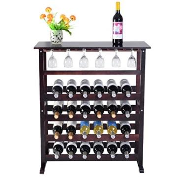 Weinregal aus Holz Flaschenregal Weinständer 24 Flaschen Holzregal Weinschrank -
