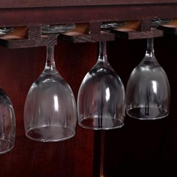 Weinregal aus Holz Flaschenregal Weinständer Holzregal Weinschrank Kolonialstil -