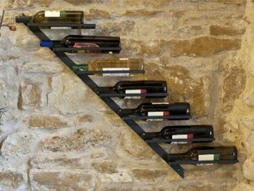 Weinregal Diagon Rechts 100cm aus Metall Flaschenhalter Flaschenständer Wandregal -