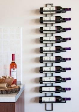 """Weinregal """"Dies"""" 116cm aus Metall für 10 Flaschen Flaschenständer Wandregal -"""