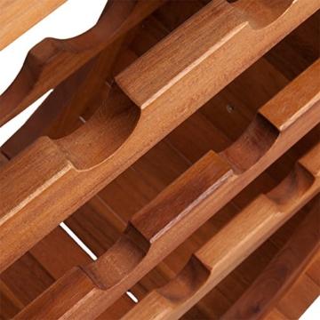 Weinregal für 12 Flaschen aus Holz im stilvollem Design -