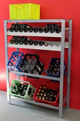 Weinregal für 36 Flaschen anthrazit / Qualität Made in Germany -