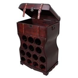 Weinregal im Kolonialstil,Regal für Flaschen,Getränkeregal,Aufbewahrung für Gläser, mit Metallbeschlägen -