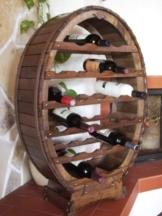 Weinregal Weinfass für 24 Flaschen Braun gebeizt Bar Flaschenständer Fass Flaschenhalter -