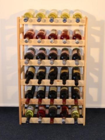 Weinregal Weinregal Holz Flaschenregal für 30 Flaschen R - 30 -