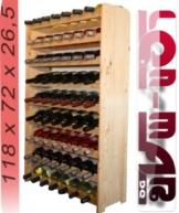 Weinregal Weinregal Holz Flaschenregal für 63 Flaschen Massiv-63 -