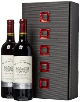 Weinset Chateau Bel Air la Perriere Bordeaux trocken (2 x 0.75 l) -